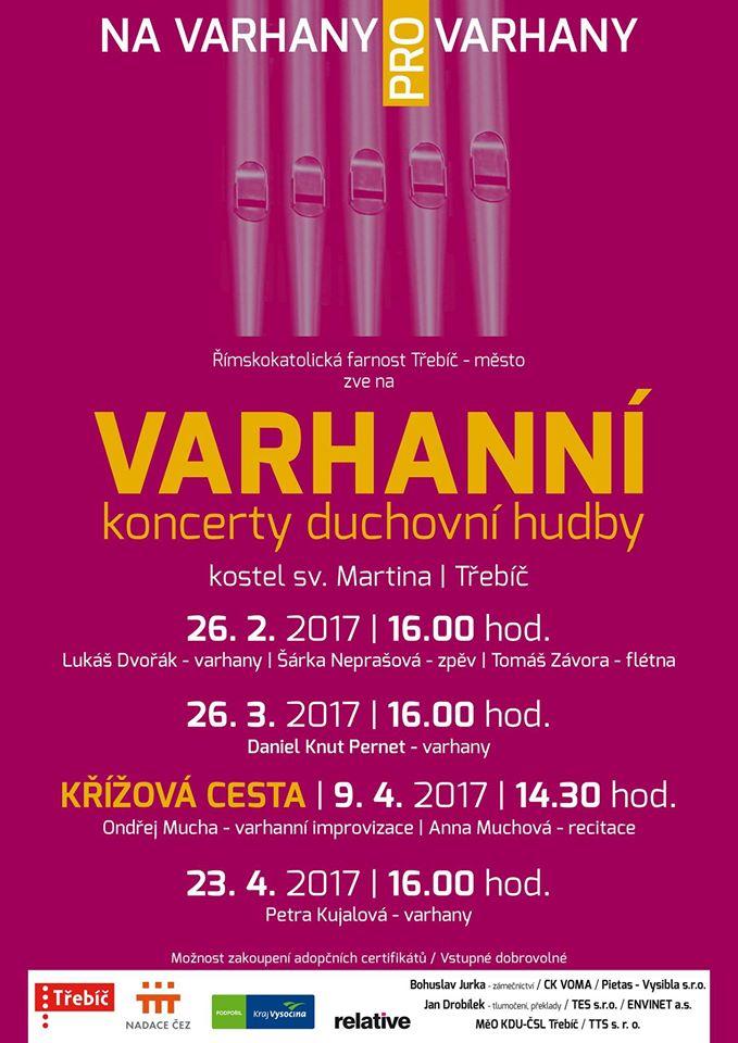 26.3.2017 Varhanní koncerty duchovní hudby