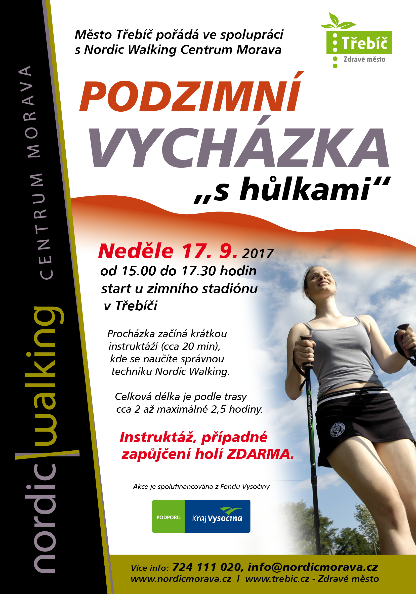 Nordic walking @ start u zimního stadionu