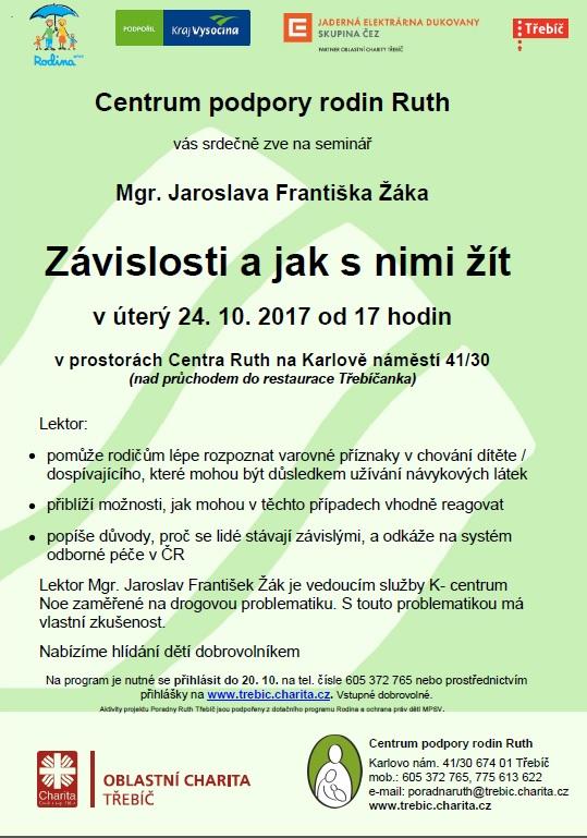 Závislosti a jak s nimi žít @ Centrum Ruth | Třebíč | Kraj Vysočina | Česko