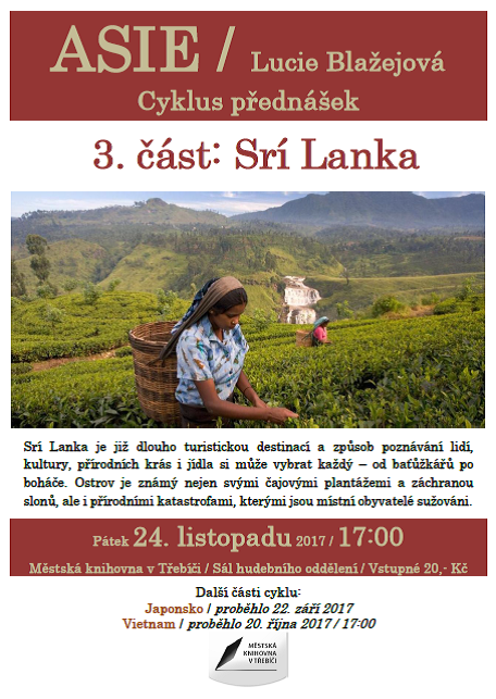 Srí Lanka @ Sál hudebního oddělení Městské knihovny Třebíč | Třebíč | Kraj Vysočina | Česko