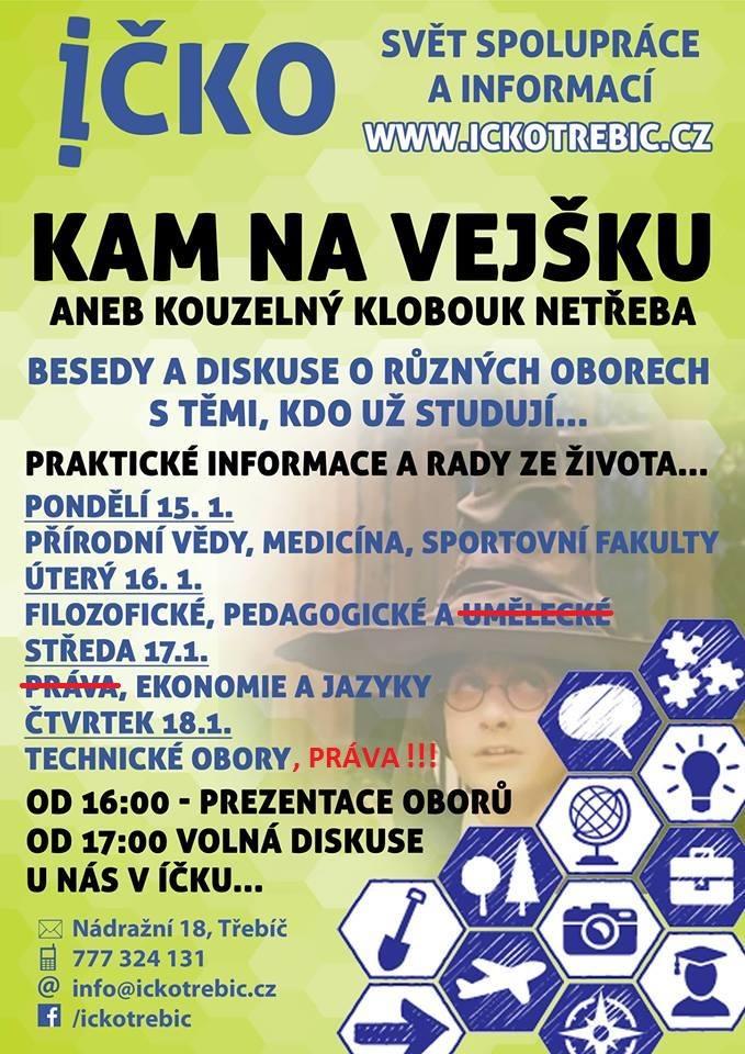Kam na vejšku? - technické obory a práva @ Íčko Třebíč | Třebíč | Kraj Vysočina | Česko