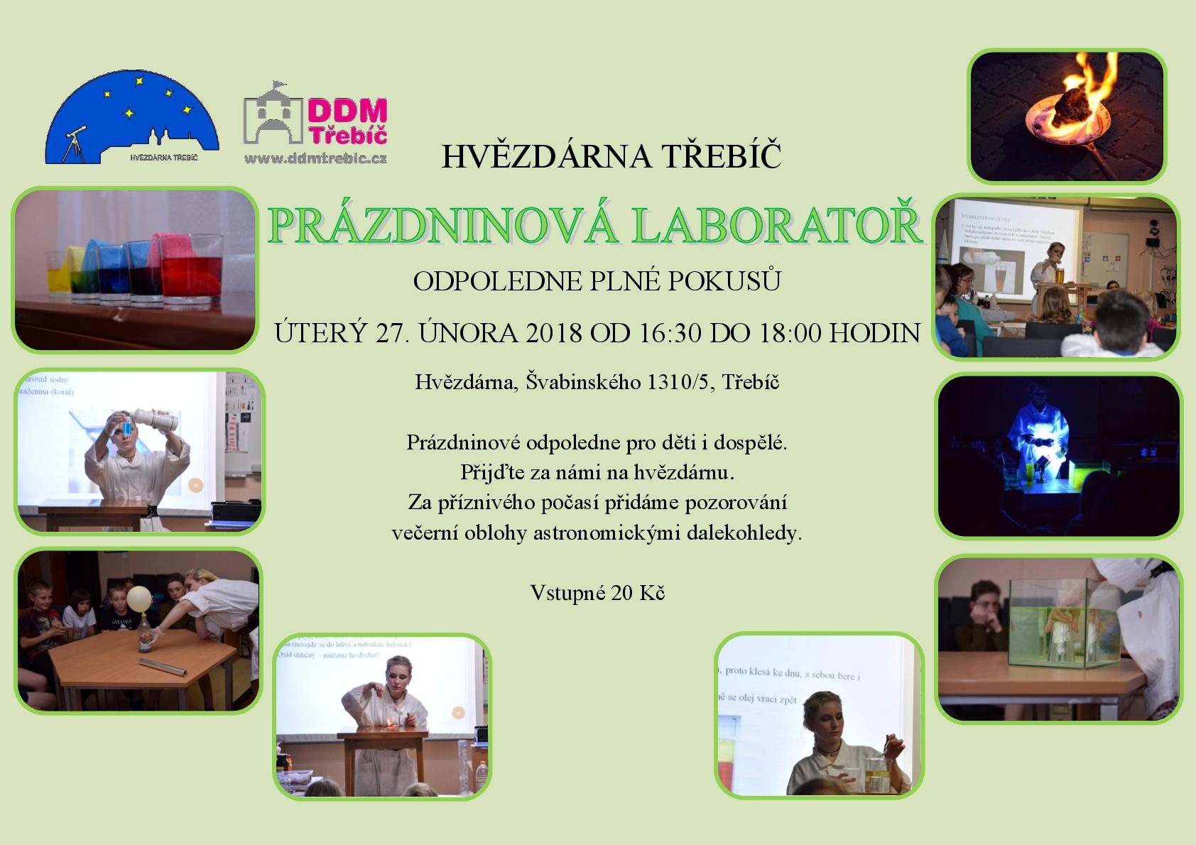 Prázdninová laboratoř na hvězdárně @ Hvězdárna | Třebíč | Kraj Vysočina | Česko