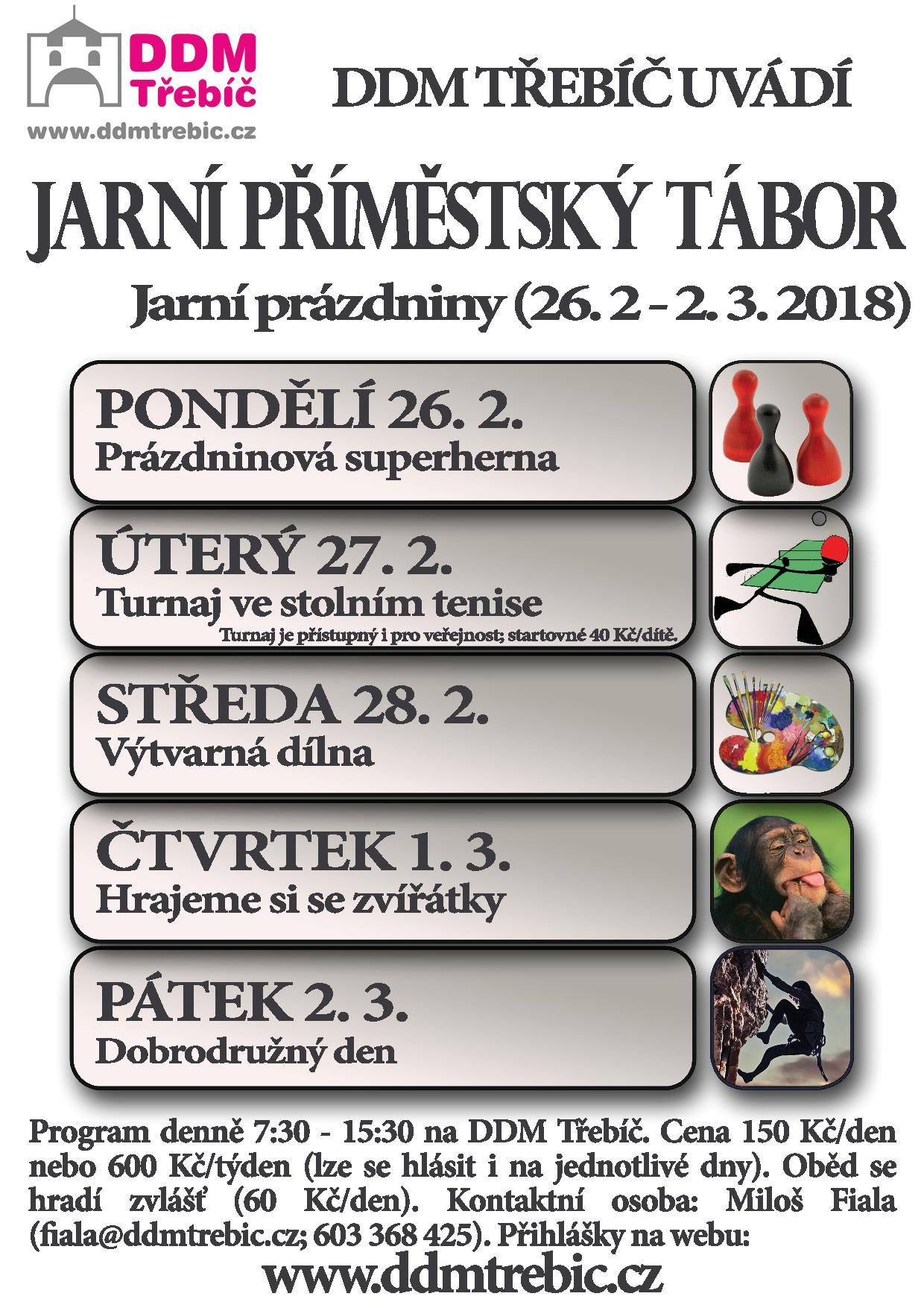 Jarní příměstský tábor @ DDM Třebíč | Třebíč | Kraj Vysočina | Česko