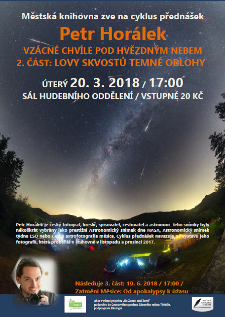 Lovy skvostů temné oblohy - Petr Horálek @ Sál hudebního oddělení MK | Třebíč | Kraj Vysočina | Česko