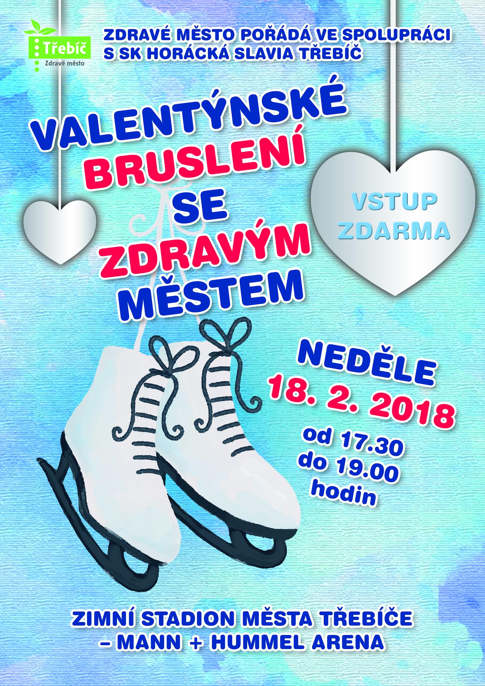 Valentýnské bruslení zdarma @ zimní stadion | Třebíč | Kraj Vysočina | Česko