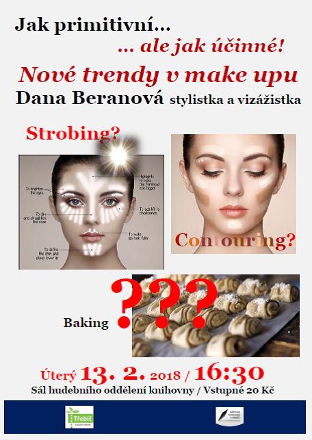 Nové trendy v make upu - vizážistka Dana Beranová @ sál hudebního oddělení MK | Třebíč | Kraj Vysočina | Česko