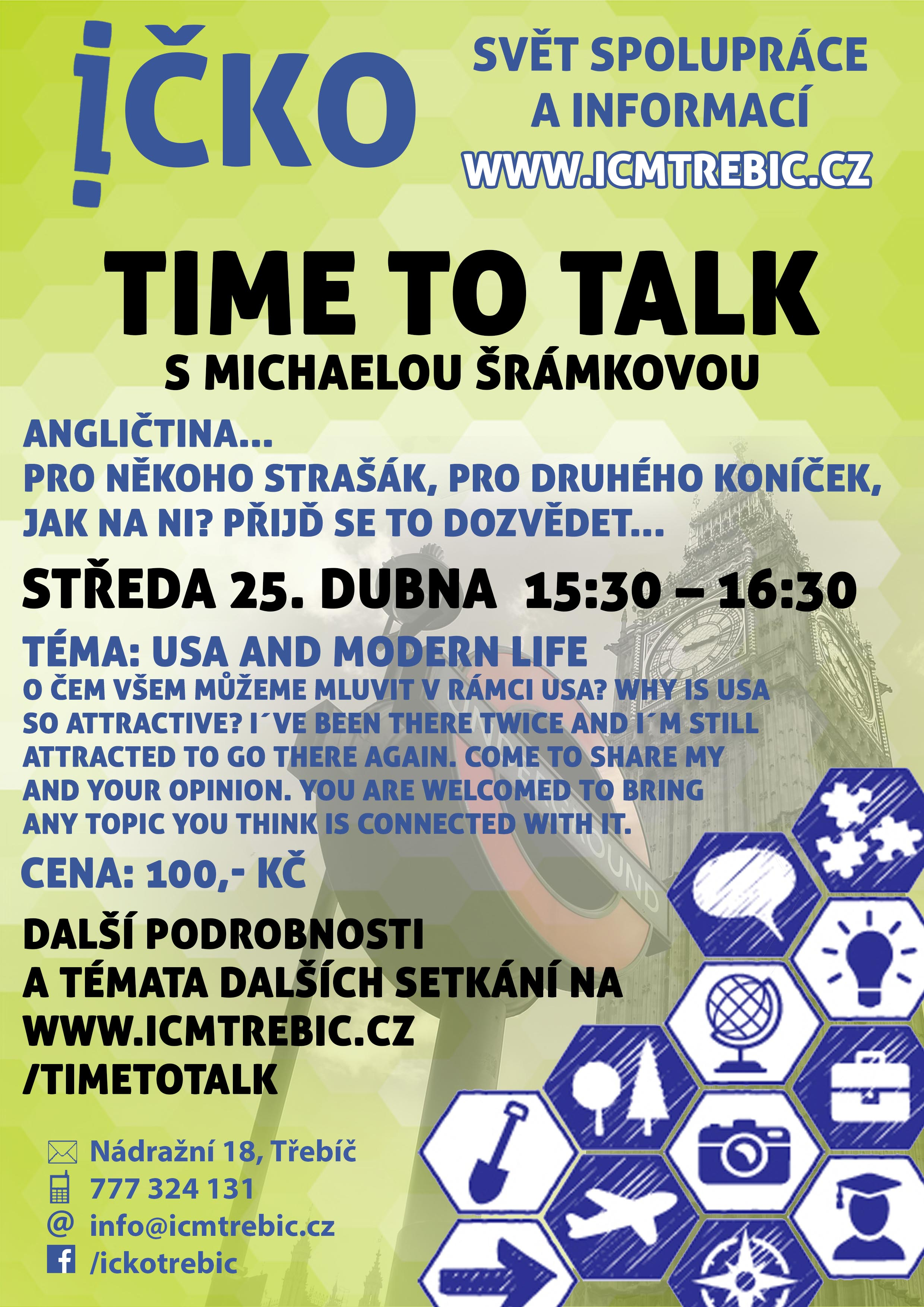 Time to talk (10/10) @ Íčko Třebíč | Třebíč | Kraj Vysočina | Česko