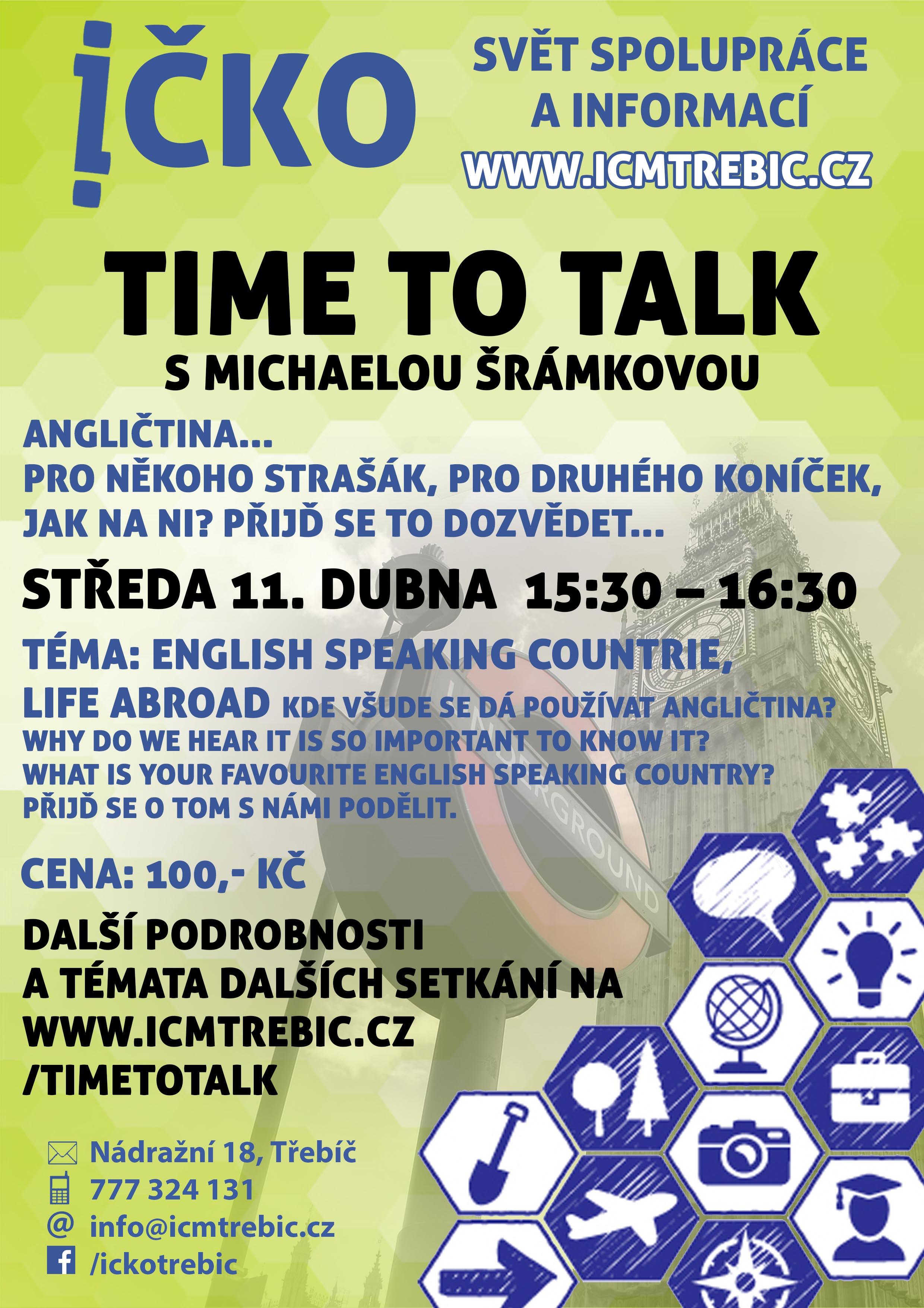 Time to talk (8/10) @ Íčko Třebíč | Třebíč | Kraj Vysočina | Česko