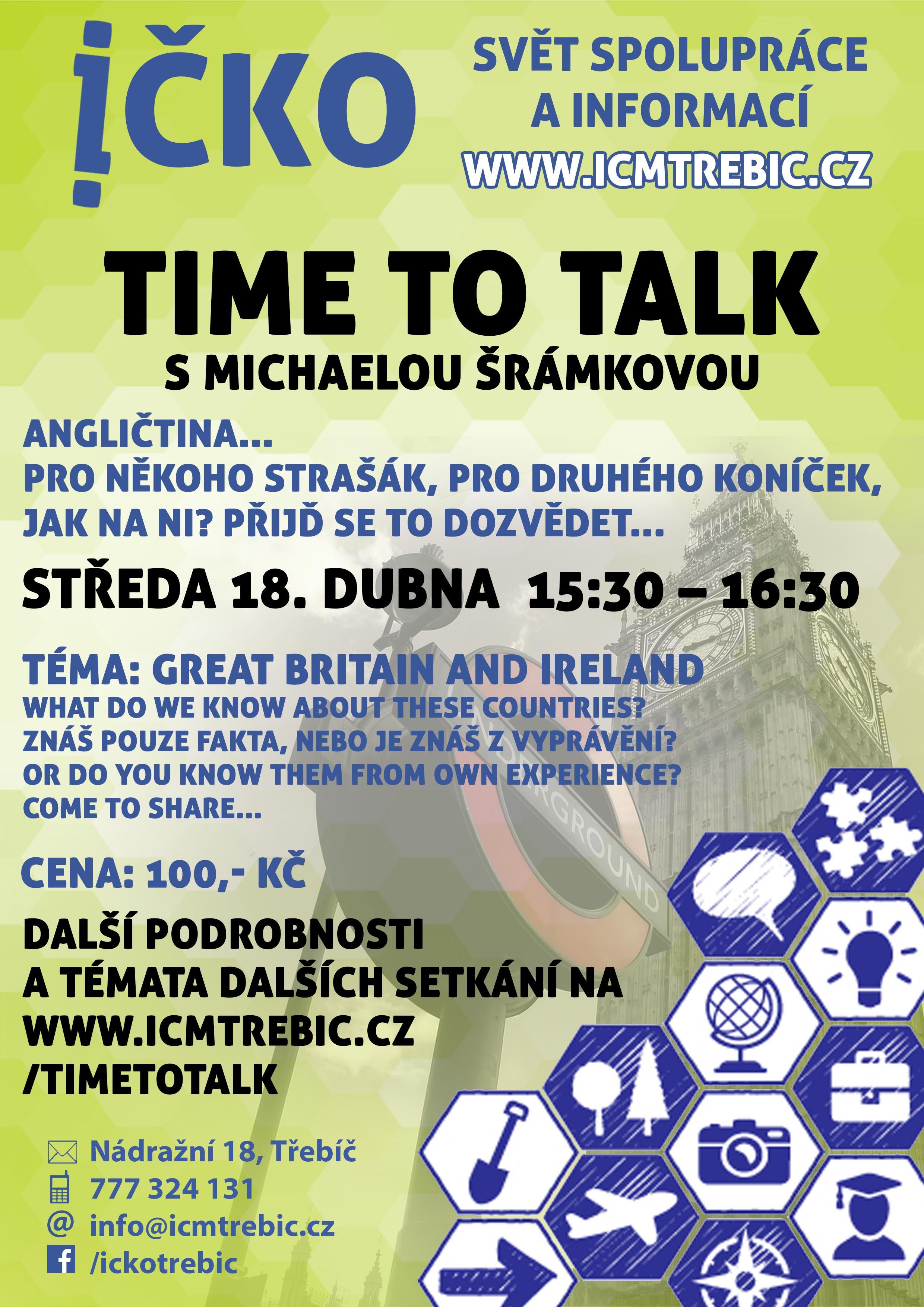 Time to talk (9/10) @ Íčko Třebíč | Třebíč | Kraj Vysočina | Česko