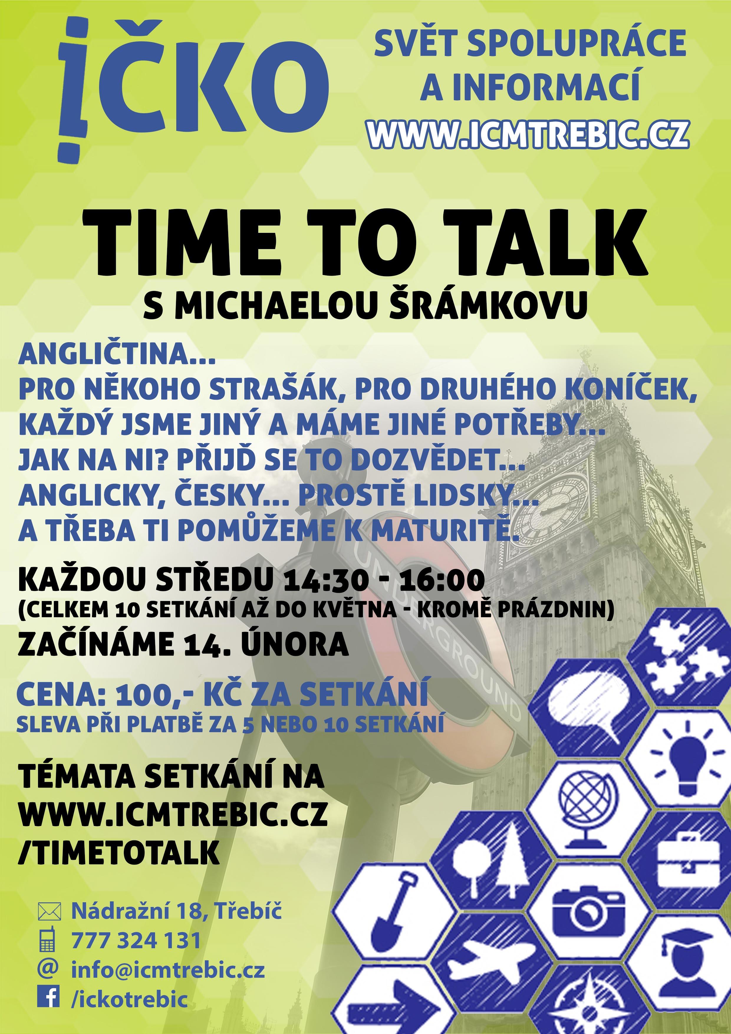 Time to talk (2/10) @ Íčko Třebíč | Třebíč | Kraj Vysočina | Česko