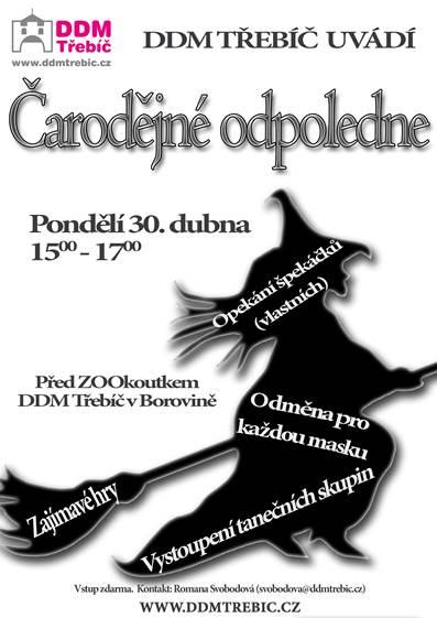 Čarodějnické odpoledne @ DDM Borovina | Třebíč | Kraj Vysočina | Česko
