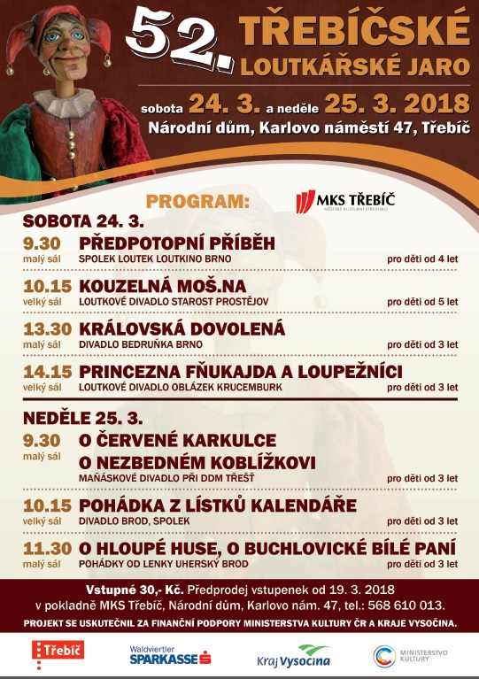 Třebíčské loutkářské jaro @ Národní dům | Třebíč | Kraj Vysočina | Česko