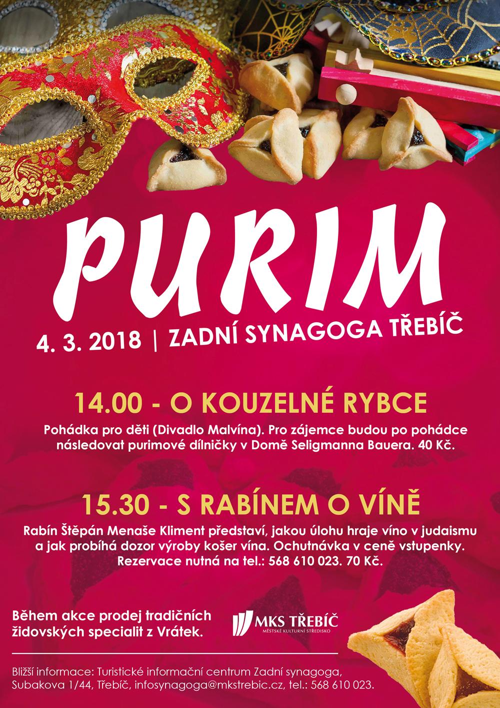 Purim - nejveselejší židovský svátek @ Zadní synagoga | Třebíč | Česko