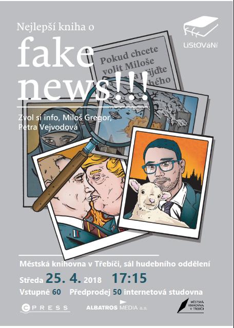 LiStOVáNí: Nejlepší kniha o FAKE NEWS! @ Sál hudebního oddělení MK | Třebíč | Kraj Vysočina | Česko