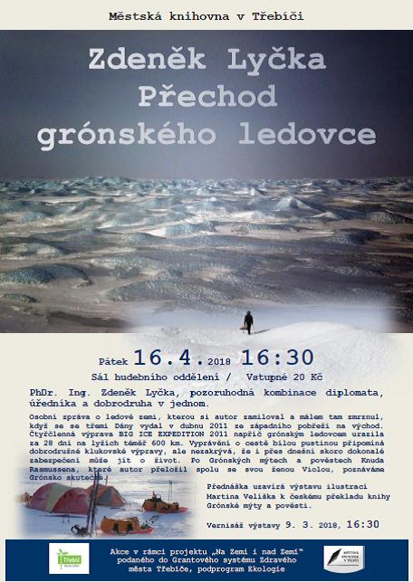 Přechod grónského ledovce - Zdeněk Lyčka @ Sál hudebního oddělení MK | Třebíč | Kraj Vysočina | Česko