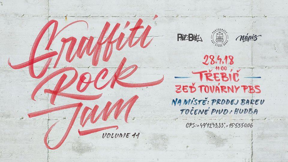 Graffiti Rock Jam @ zeď továrny PBS