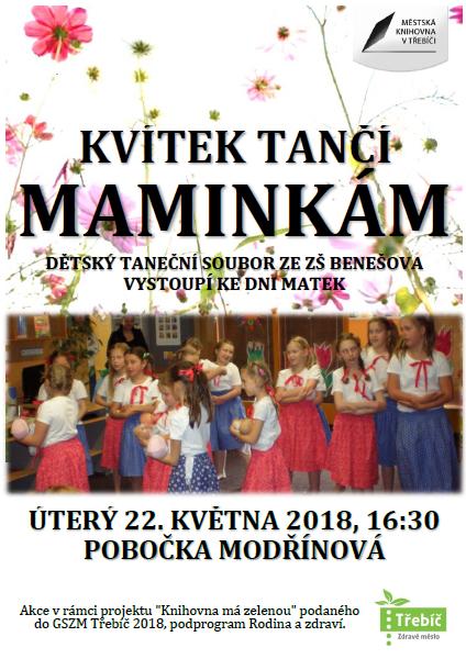 Kvítek tančí maminkám @ MK pobočka Modřínová | Třebíč | Kraj Vysočina | Česko