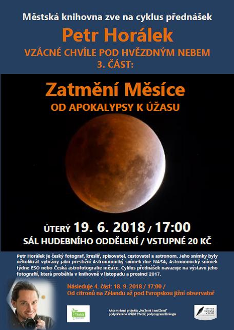 Zatmění Měsíce: Od apokalypsy k úžasu @ Sál hudebního oddělení MK | Třebíč | Kraj Vysočina | Česko
