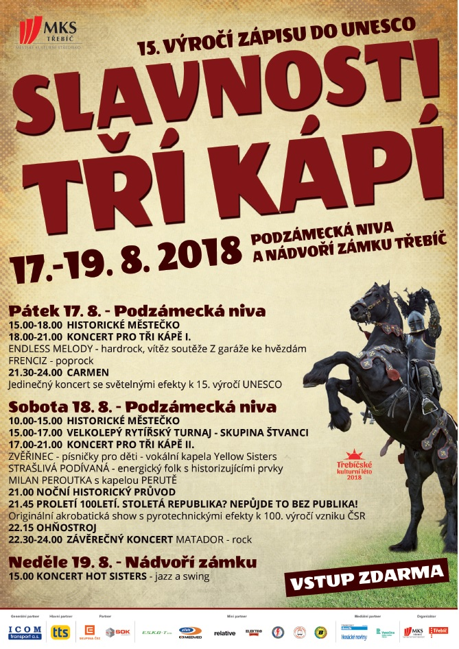 Slavnostni tří kápí @ Podzámecká niva | Třebíč | Kraj Vysočina | Česko