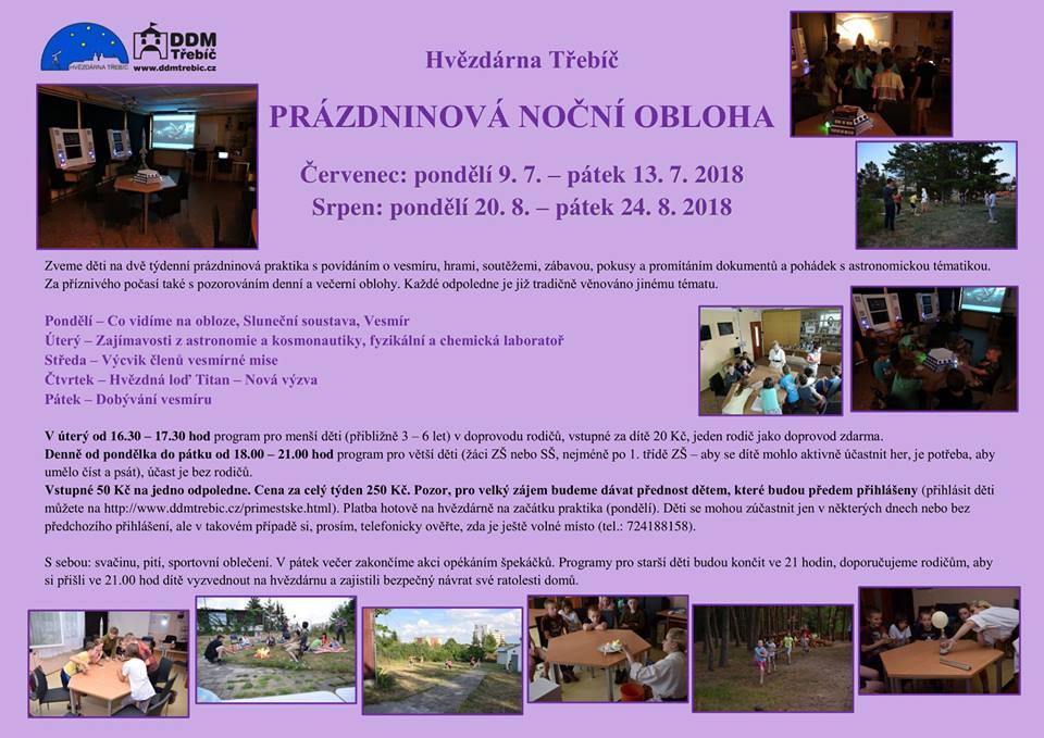 Prázdninová noční obloha @ Hvězdárna Třebíč | Třebíč | Kraj Vysočina | Česko