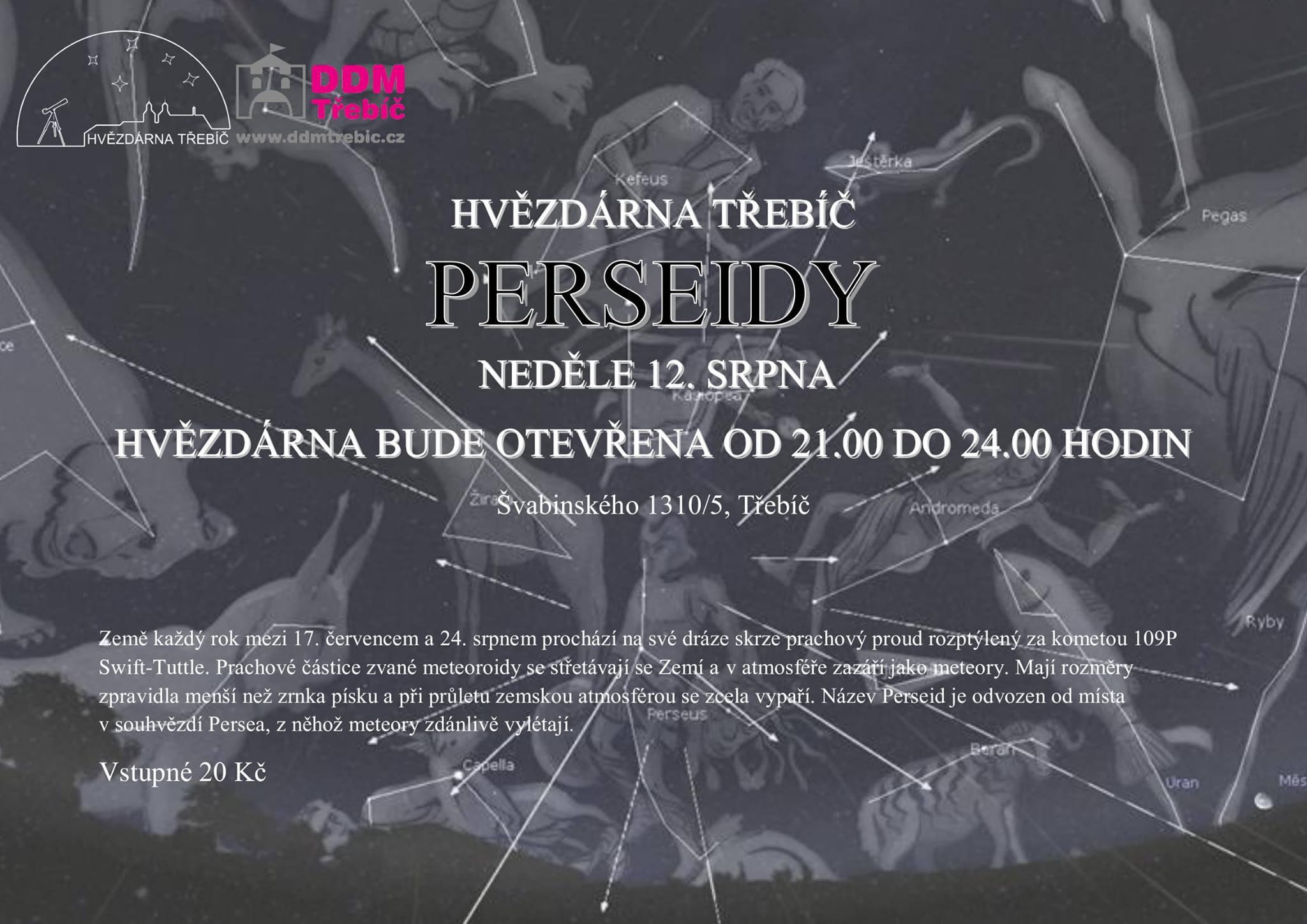 Perseidy @ Hvězdárna Třebíč | Třebíč | Kraj Vysočina | Česko