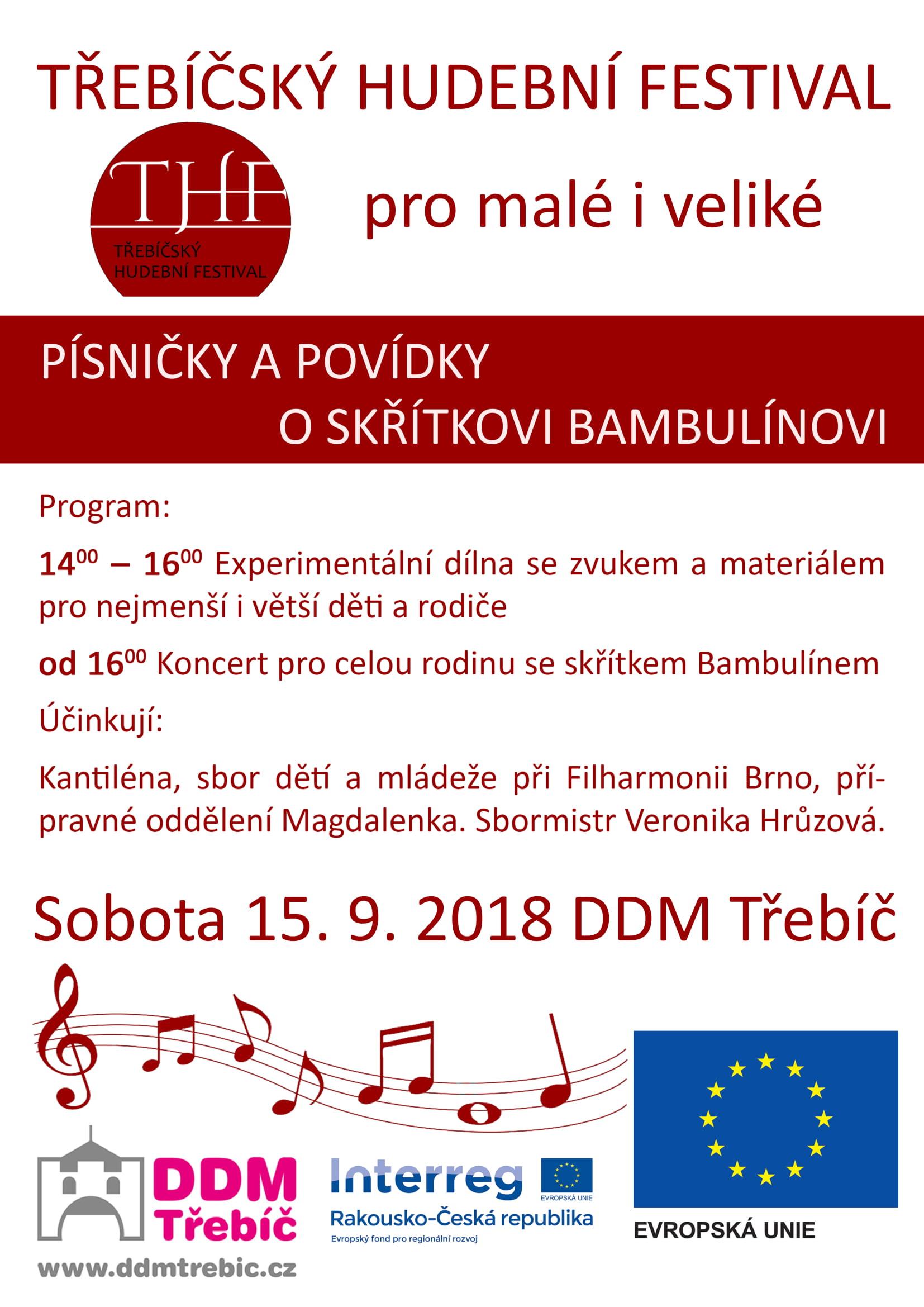 Písničky a povídky o skřítkovi Bambulínovi @ DDM Třebíč | Třebíč | Kraj Vysočina | Česko