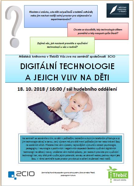 Digitální technologie a jejich vliv na děti @ Sál hudebního oddělení MK | Třebíč | Kraj Vysočina | Česko