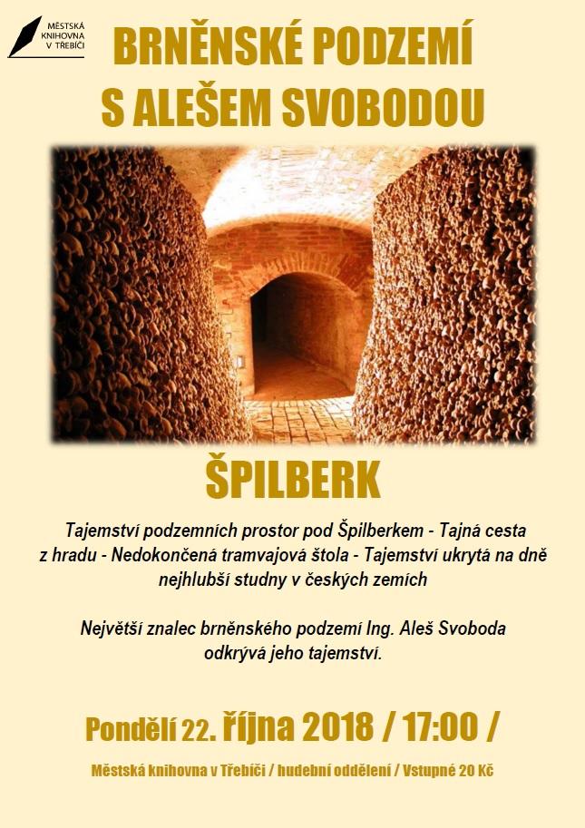 Brněnské podzemí s Alešem Svobodou @ Sál hudebního oddělení MK | Třebíč | Kraj Vysočina | Česko