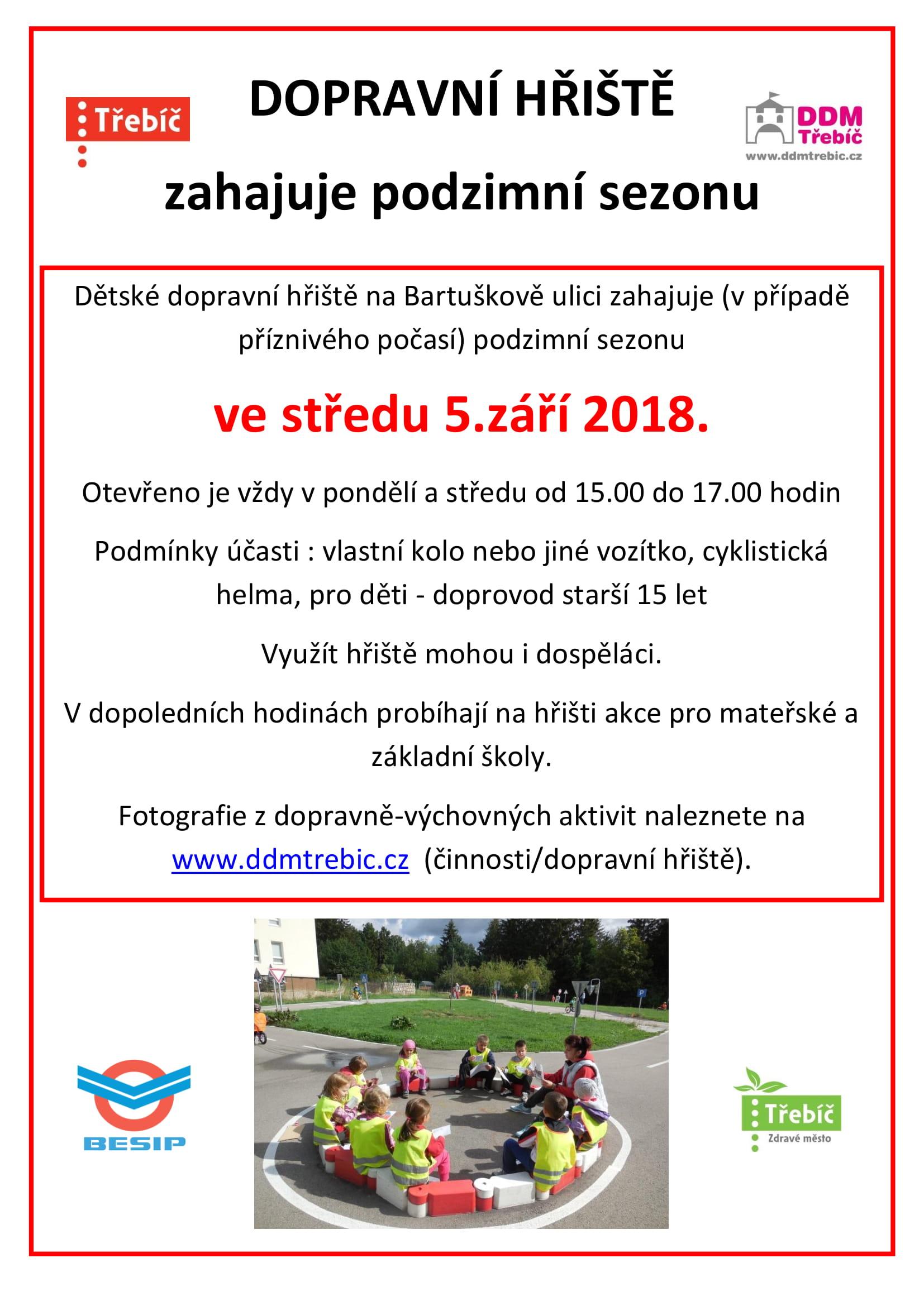 Zahájení sezóny na dopravním hřišti @ Dopravní hřiště | Třebíč | Kraj Vysočina | Česko