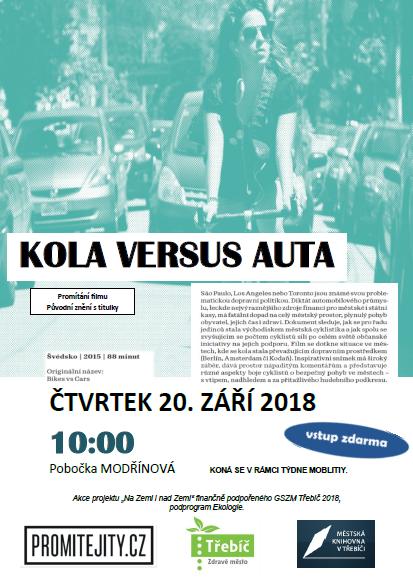 Kola versus auta - promítání filmu @ MK Třebíč - pobočka Modřínová   Třebíč   Kraj Vysočina   Česko