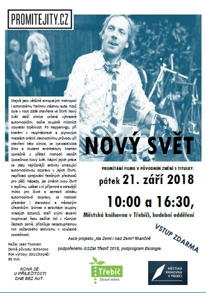 Nový svět - promítání filmu @ hudební oddělení MK Třebíč | Třebíč | Kraj Vysočina | Česko