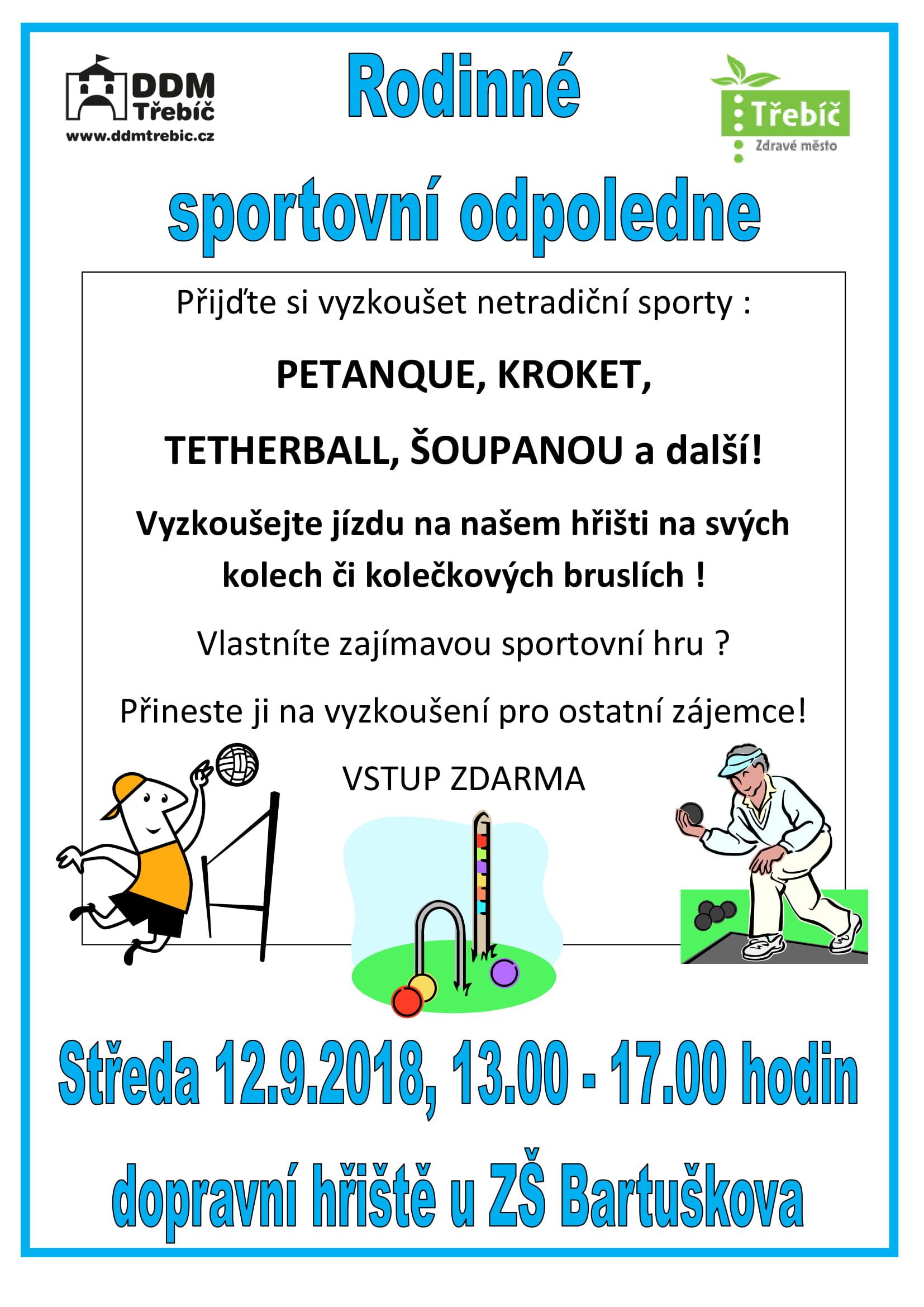 Rodinné sportovní odpoledne @ Dopravní hřiště | Třebíč | Kraj Vysočina | Česko