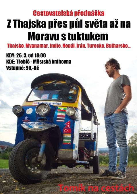 S Tomíkem na cestách: Tuktukem z Thajska na Moravu @ sál hudebního oddělení Městské knihovny