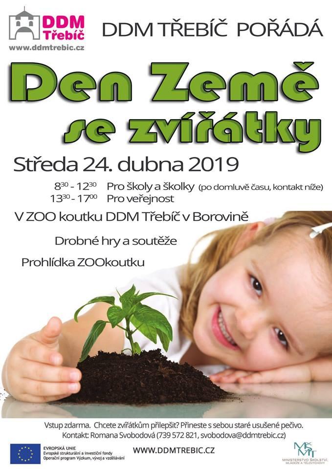 Den Země se zvířátky @ DDM Třebíč