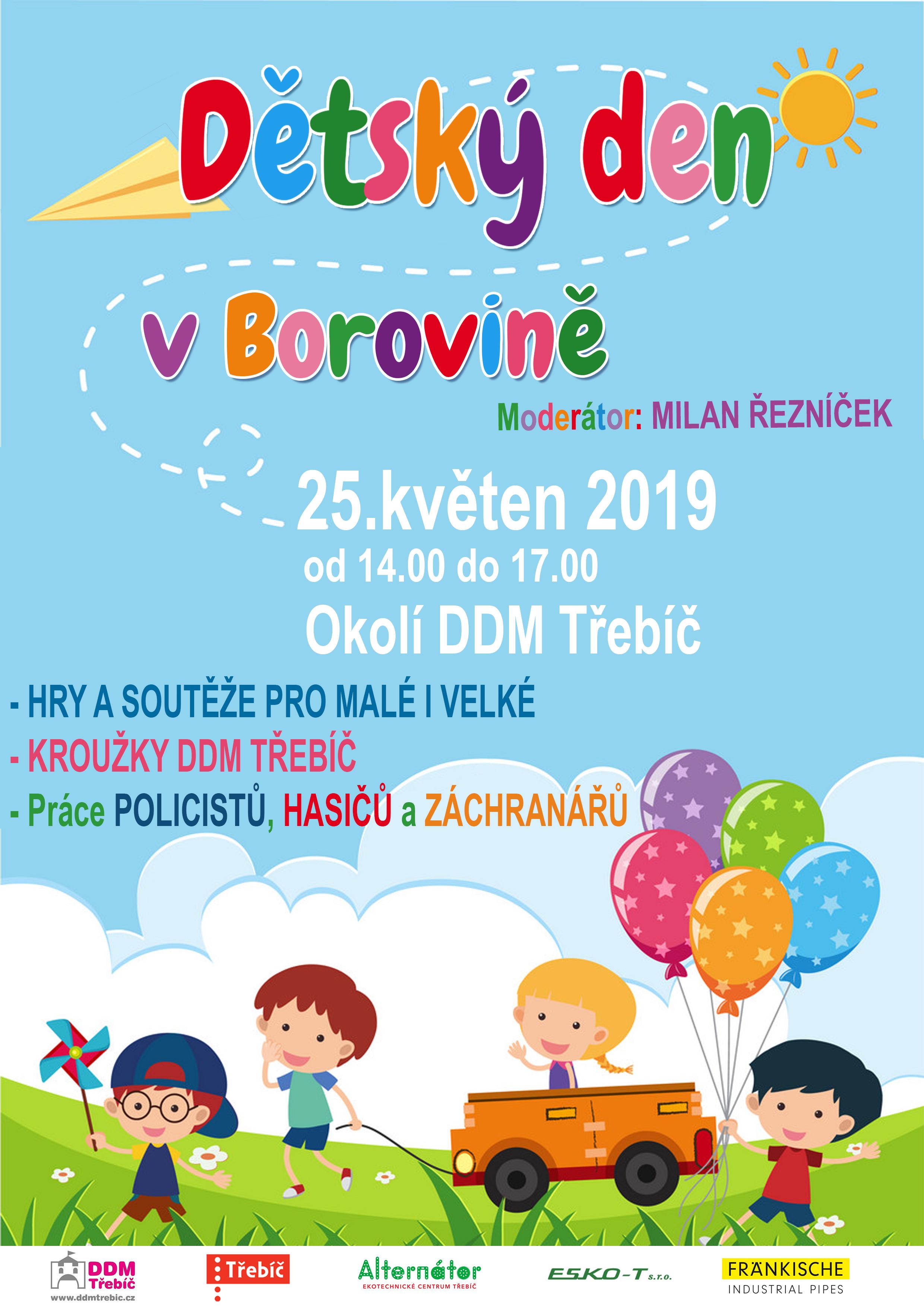 Dětský den v Borovině @ DDM Třebíč