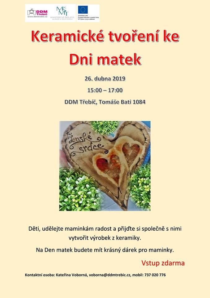 Keramické tvoření ke dni matek @ DDM Třebíč