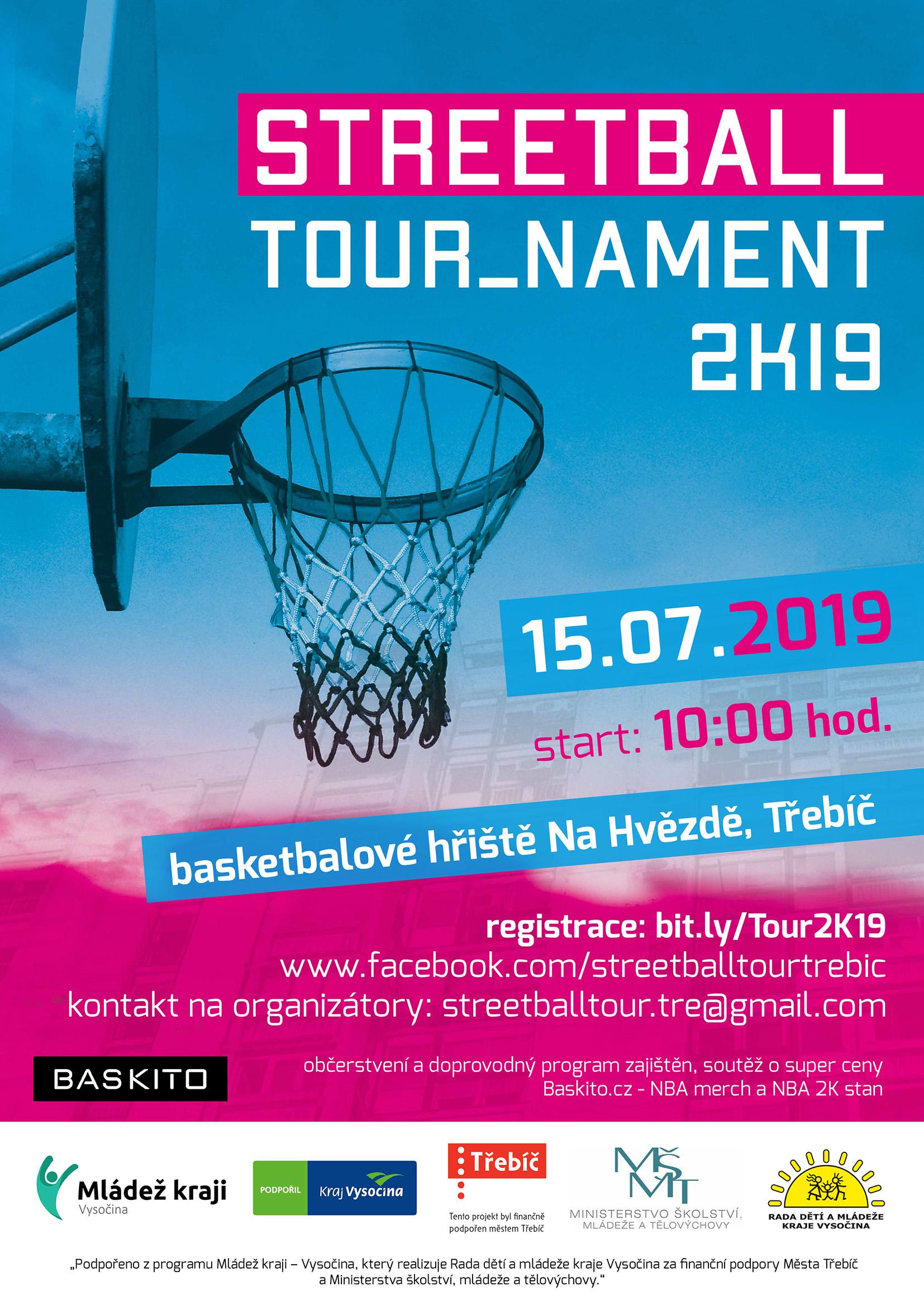 Streetball tour_nament @ basketbalové hřiště Na Hvězdě