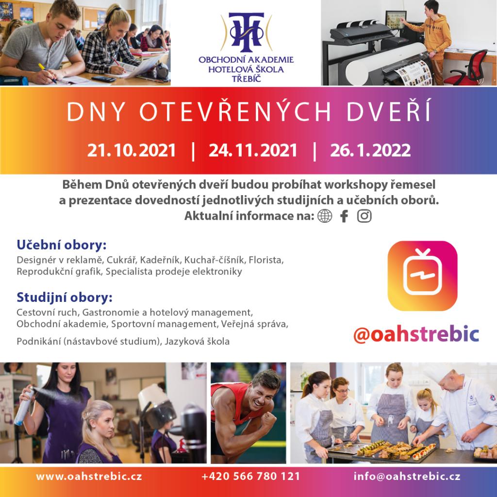 Dny otevřených dveří @ Obchodní akademie a hotelová škola Třebíč